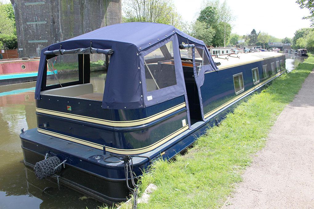 Widebeam Canal Boat Builders Exterior - Pram Hood