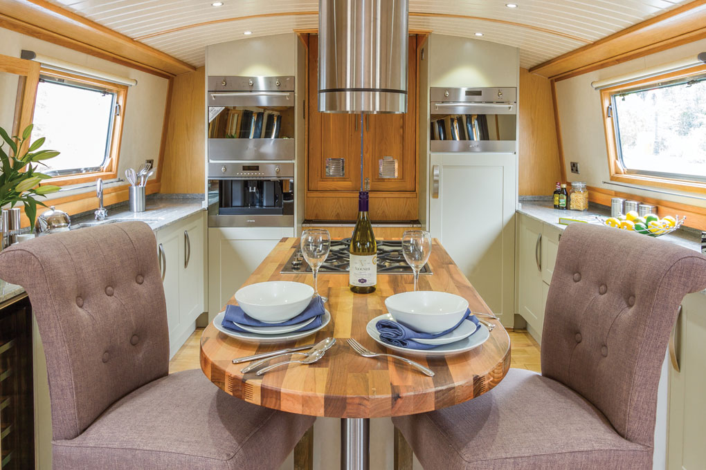Abode Luxury Widebeam - Reverse Layout Galley