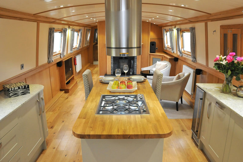 Widebeam Builders Abode 64ft x 12ft Reverse Layout Galley/Saloon