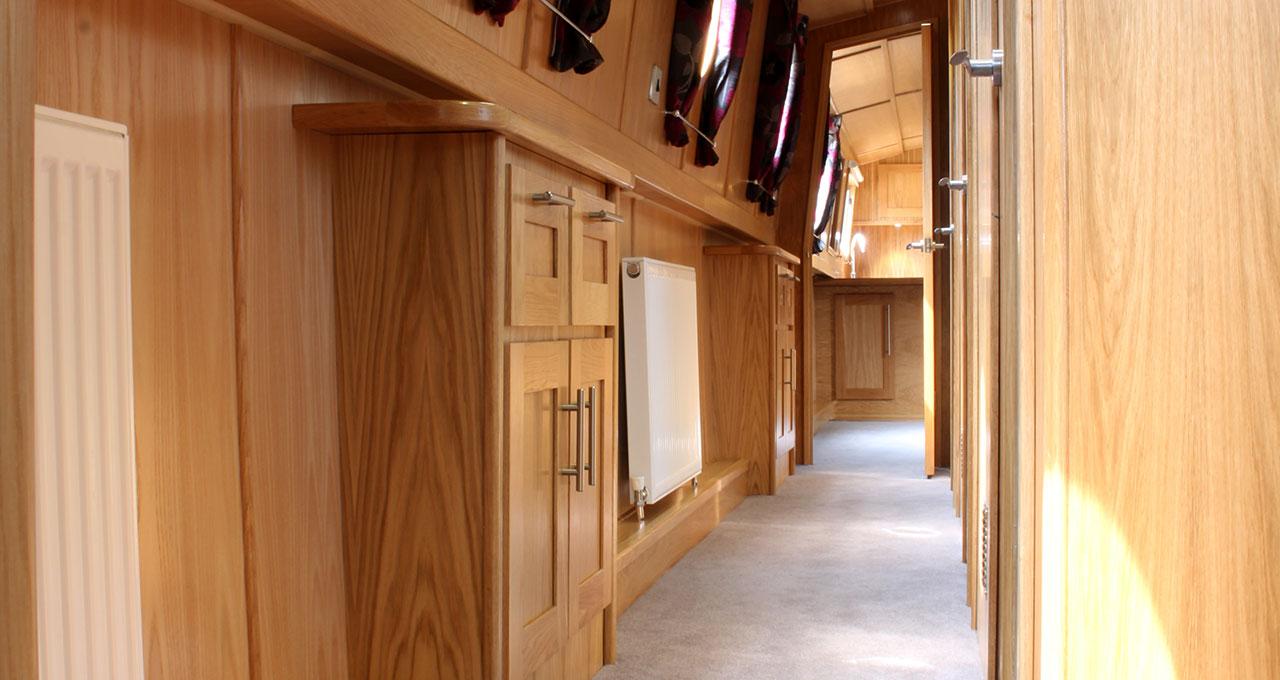 Widebeam Boat Builder - Corridor Storage