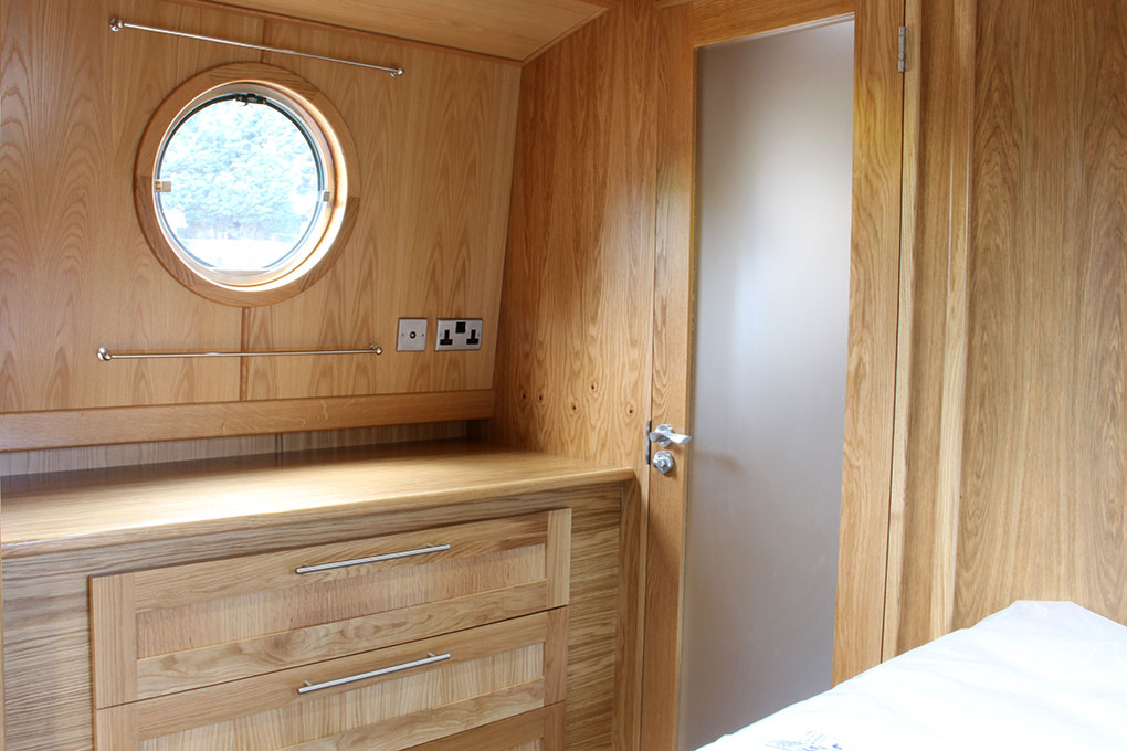 Bedroom Storage - Widebeam Boat