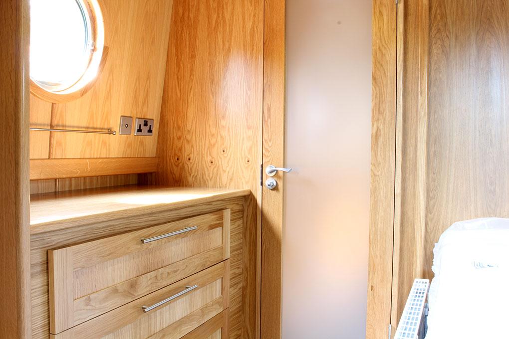 Widebeam Boat Builders - Bedroom Storage