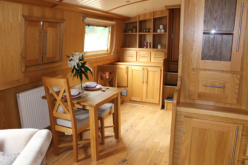 12ft Widebeam Boat - Emperor Range - Dining Area