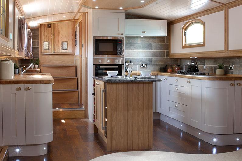 Luxury Neptune Barge Boat Builders - Galley 2
