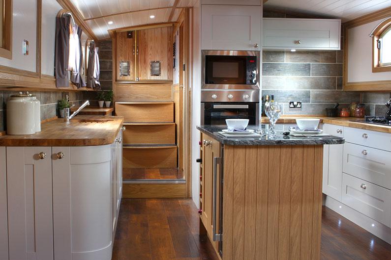 Luxury Neptune Barge Boat Builders - Galley