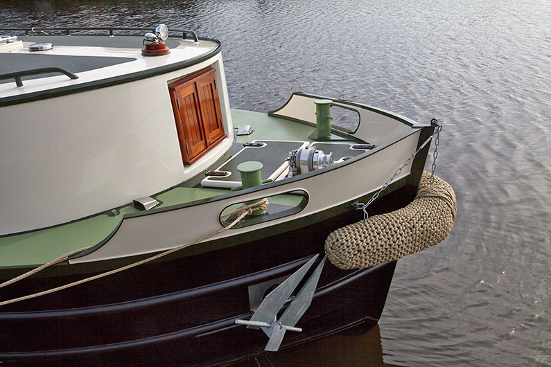 Brigantine Barge - 60ft x 12ft - Bow with Anchor