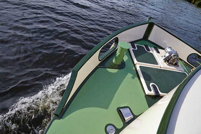 Brigantine 60ft x 12ft Barge - Luxury Boat Builder - Bow Deck