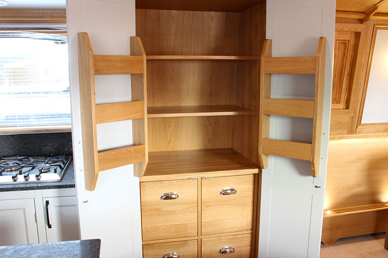 Widebeam Boat Builder - Canterbury Galley Cupboard