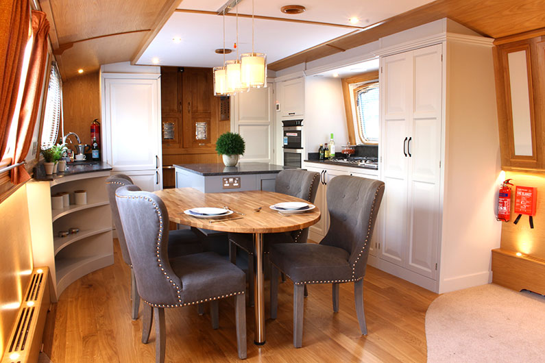 Canterbury Widebeam - Galley and Dining Area