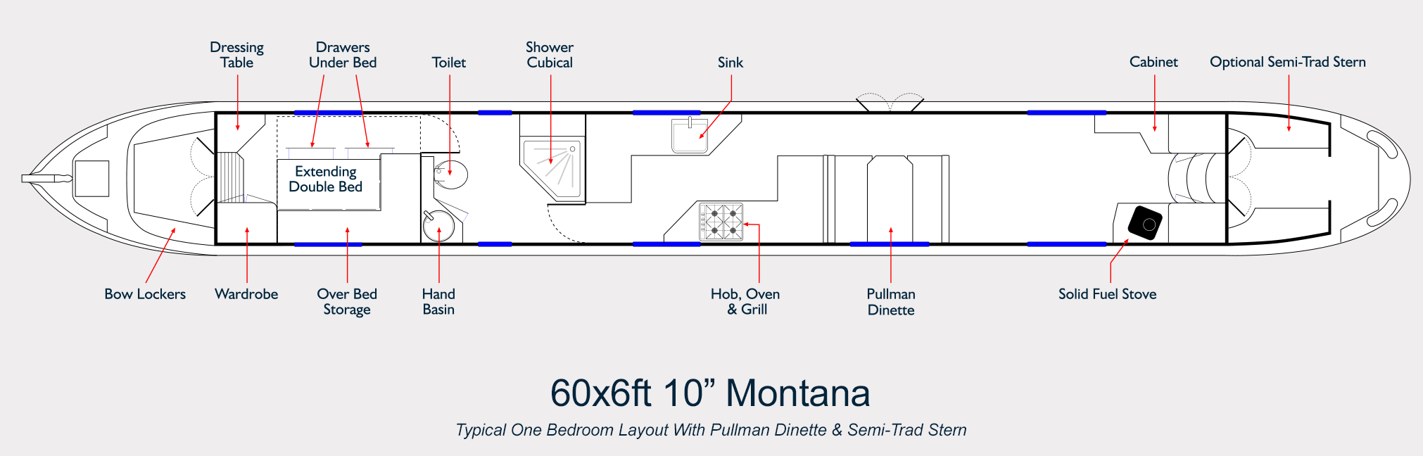 Aqualine Narrowboat Builders Layout Drawing Montana