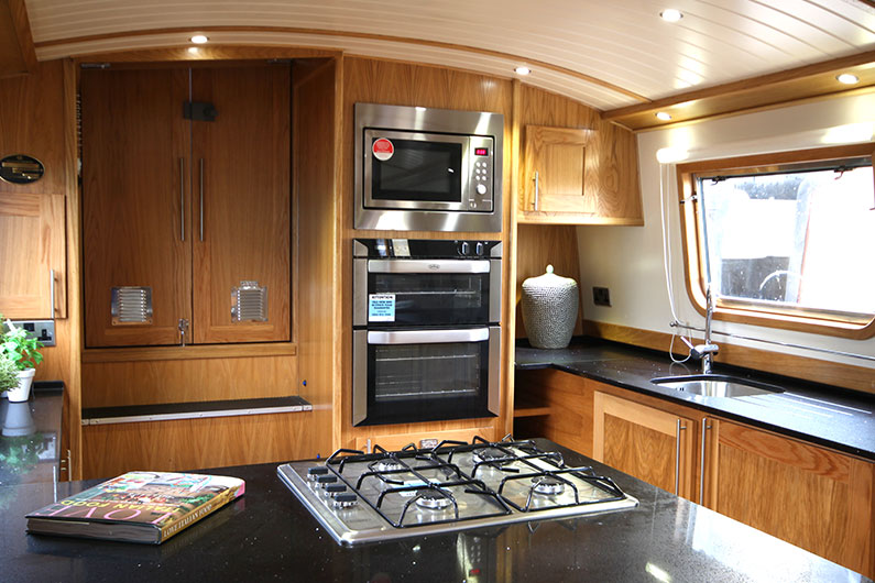 10ft Widebeam Builders -The Baby Eurocruiser Galley - Reverse Layout