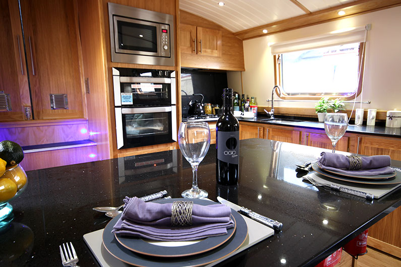 Eurocruiser Widebeam Boat Builder - 12ft Luxury - Galley Breakfast Bar