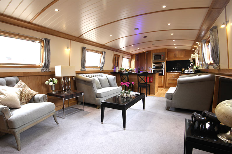 Eurocruiser 12ft Widebeam - Luxury Boat Builder Saloon & Galley