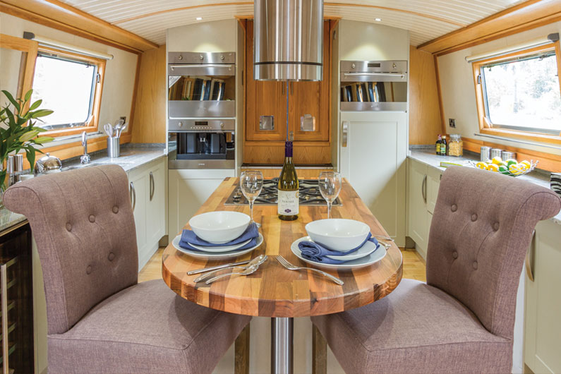 Widebeam Builders Abode 64ft x 12ft Reverse Layout Galley