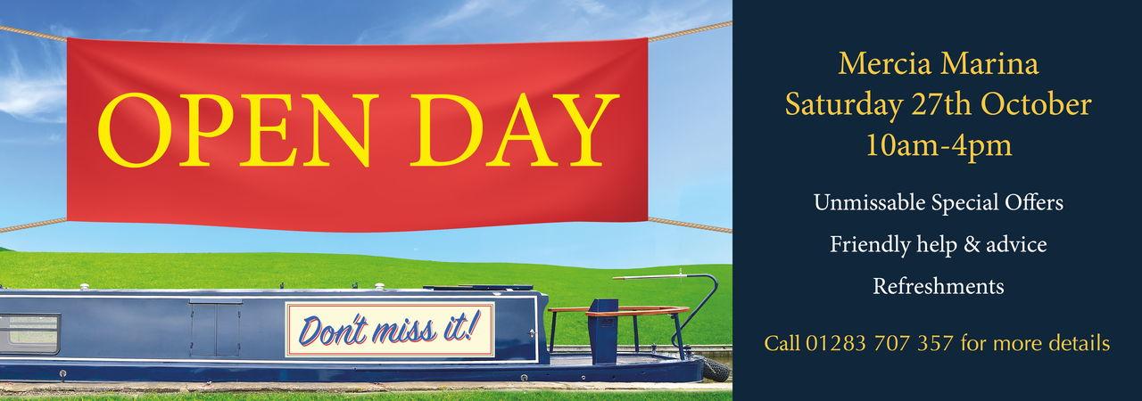 Openday Mercia Marina - Saturday 27th October