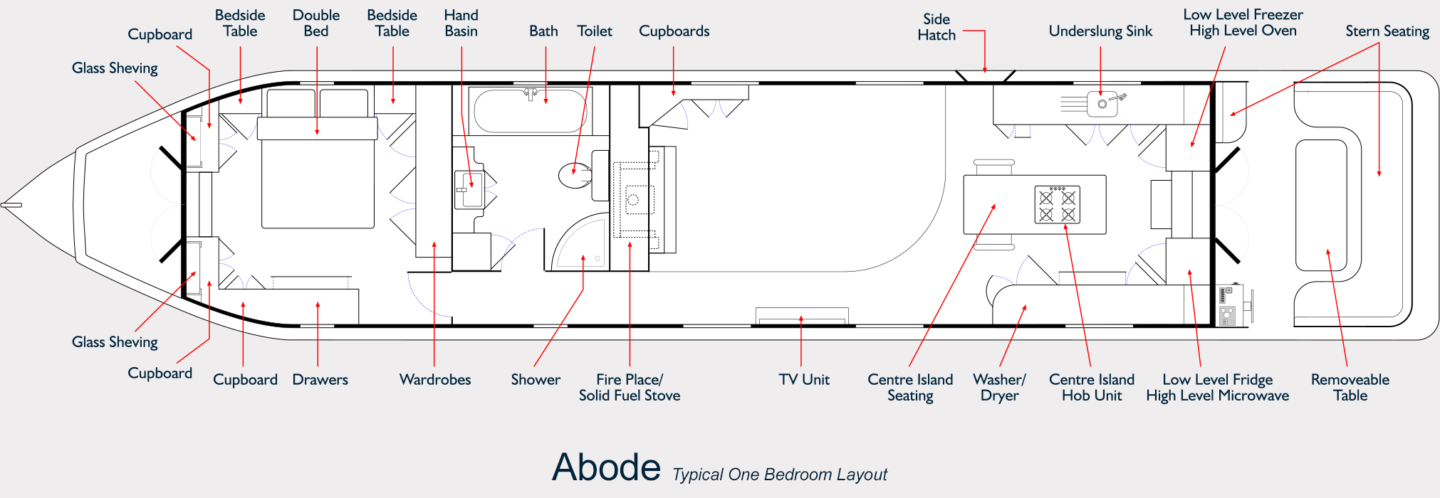 Abode Widebeam - One Bedroom Floor Plan
