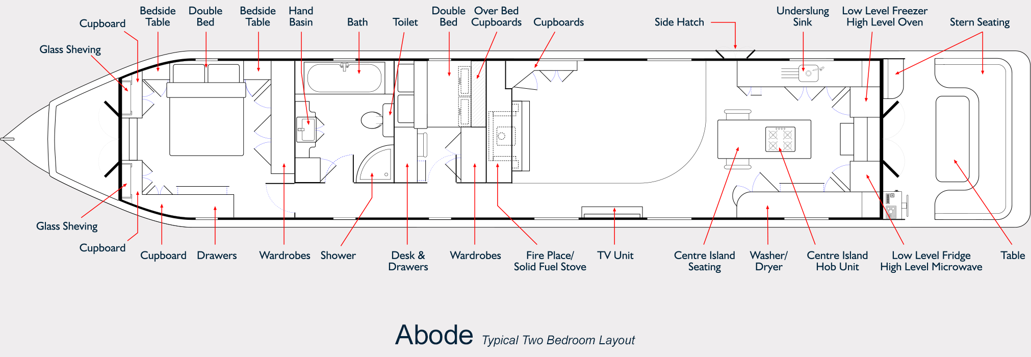 Abode Widebeam - Two Bedroom Floor Plan