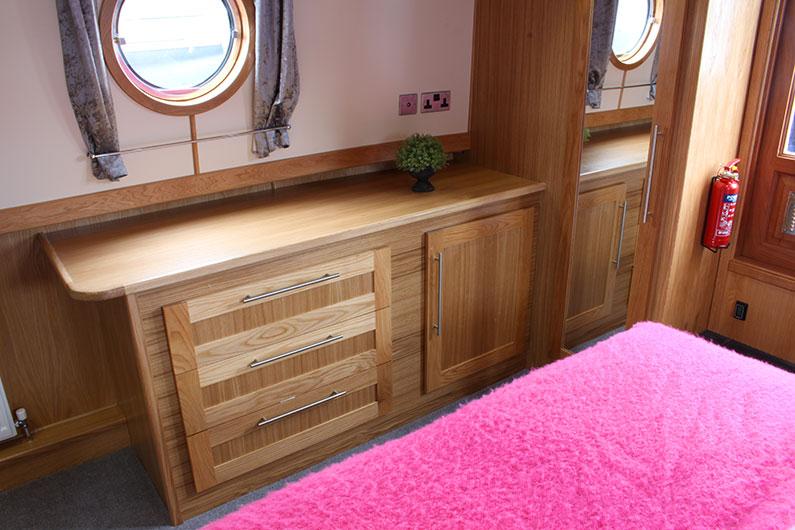 Monarch Widebeam Boat Builder Bedroom Storage