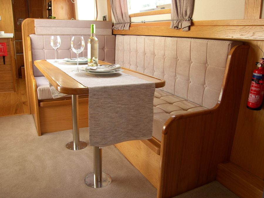 fuss free joinery throughout boat well executed and comfortable boat