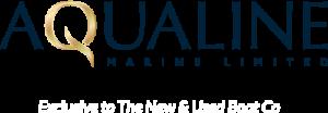 aqualine logo navy